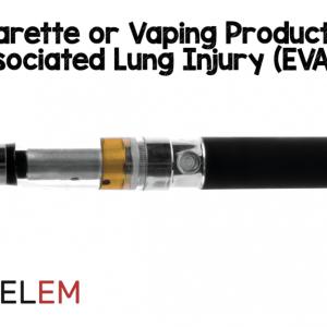 Травма легких, связанная с употреблением электронных сигарет или электронных сигарет (EVALI)